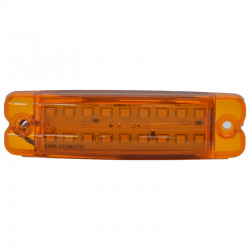 Gabaritna lampa led žuta 18 -diode ravna 24V