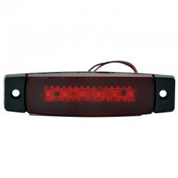 Gabaritna lampa led crvena 6 -diode ravna