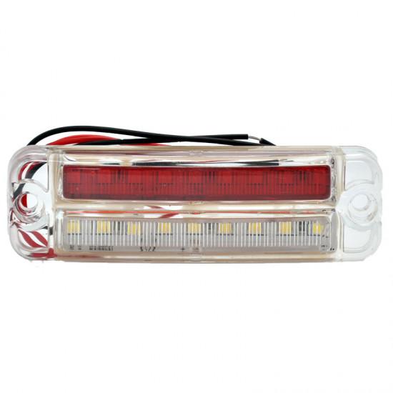 Gabaritna lampa led belo - crvena 18 -diode ravna