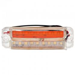 Gabaritna lampa led belo - žuta 18 -diode ravna