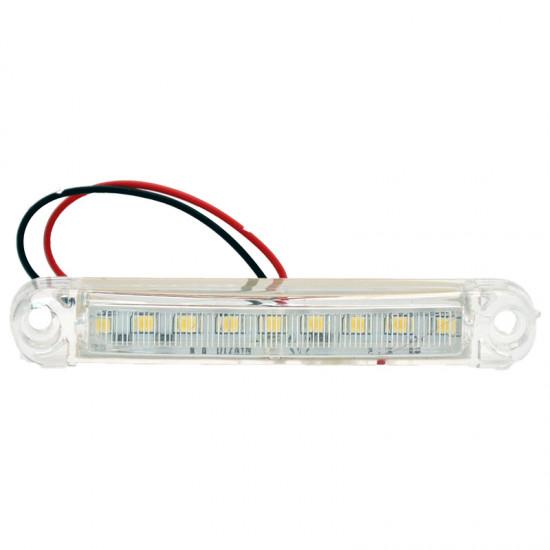 Gabaritna lampa led bela 9 -diode ravna