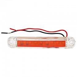 Gabaritna lampa led žuta 9 -diode ravna