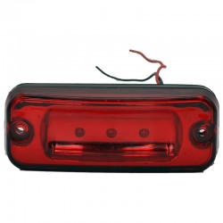 Gabaritna lampa led crvena 3 -diode ravna